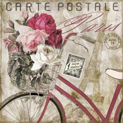 Lunch Servietten Carte Postale Paris