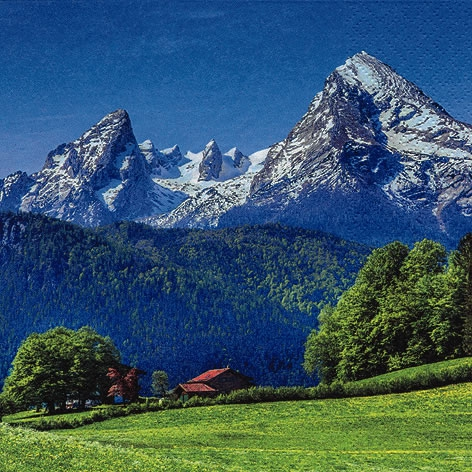 Servietten 33x33 cm - Landscape in the Alps