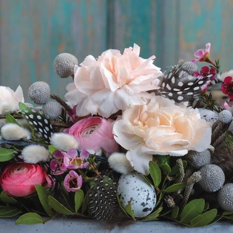 Servietten 33x33 cm - Carnation & Ranunculus