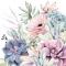 Servietten 33x33 cm - Succulent Love