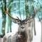 Servietten 33x33 cm - Winter Deer