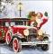 Servietten 33x33 cm - Santa Automobile
