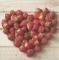 Servietten 33x33 cm - HEART OF STRAWBERRIES