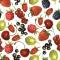 Servietten 33x33 cm - Summer Fruits Allover