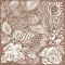 Servietten 33x33 cm - Monochrome Garden Brown