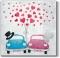 Servietten 33x33 cm - Cars in Love