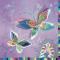 Servietten 33x33 cm - Silver moon butterflies