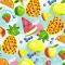 Servietten 33x33 cm - Tropical fruits