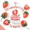 Servietten 33x33 cm - Strawberry Season